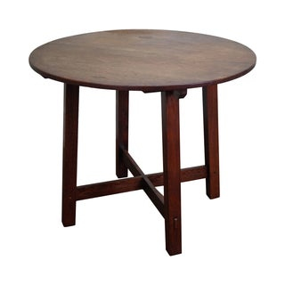 Limbert Antique Mission Oak Round Center Table