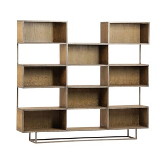 Modern Steel & Oak Bookcase