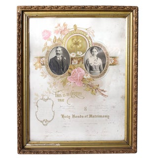 1900's Marriage Certificate
