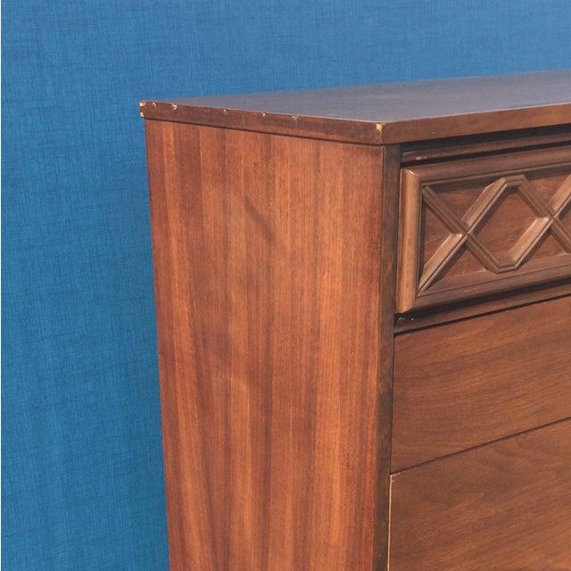 Mid-Century Formica Top Highboy Dresser - Image 5 of 6