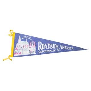 Vintage Roadside America Felt Flag