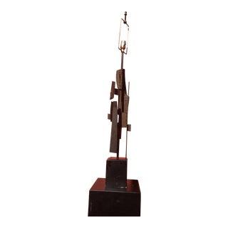 Brutalist Sculpture Lamp by Harry Balmer