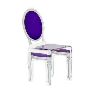 "Purple Acrylic ""Sixteen"" Chair"