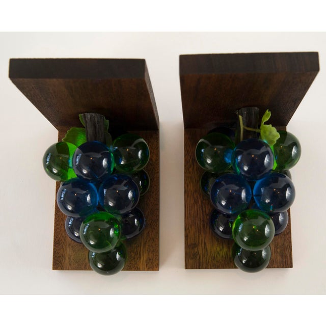 Mid-Century Lucite Grape Bookends- A pair - Image 8 of 10