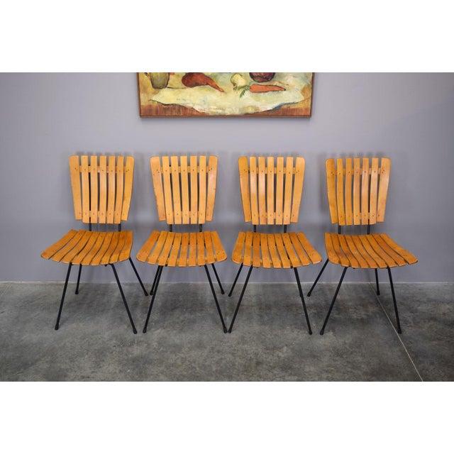 Arthur Umanoff Raymor Mid-Century Slat Chairs, Set/4 - Image 7 of 9