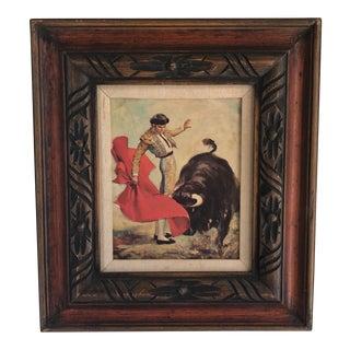 Mid-Century Bullfighter Framed Wall Art