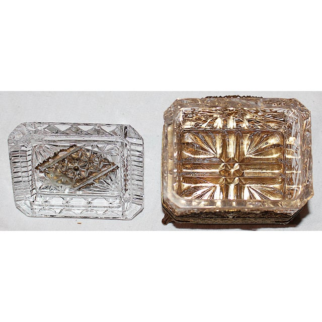Hollywood Regency Glass Vanity Box - Image 6 of 7