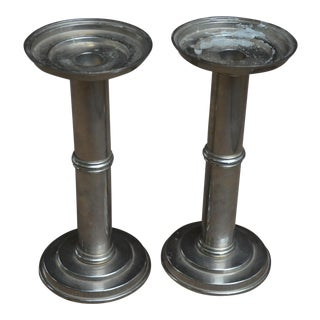 Classic Column Candle Sticks - A Pair