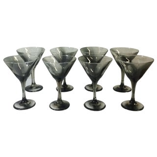 Handblown Martini Glasses - Set of 8