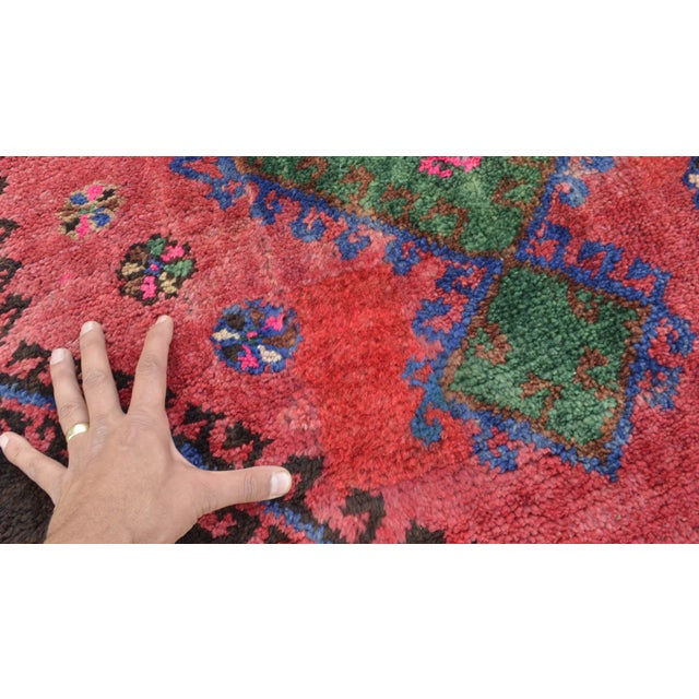 Hand Knotted Turkish Runner Rug - 4′6″ × 13′3″ - Image 11 of 11