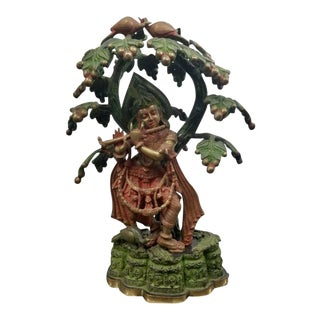 Hindu God Krishna & Flute Sculpture