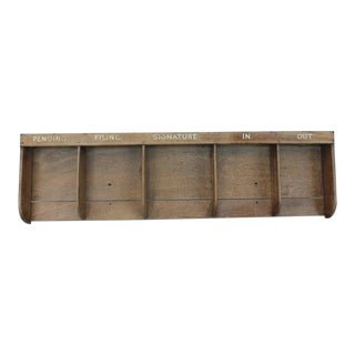 Large 1930s American Factory File Wood Holder