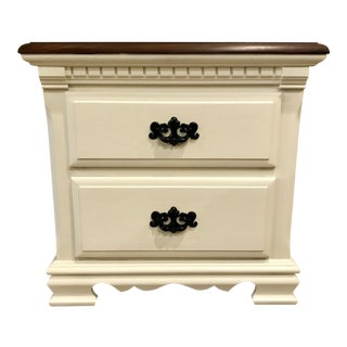 """Old White"" Nightstand"