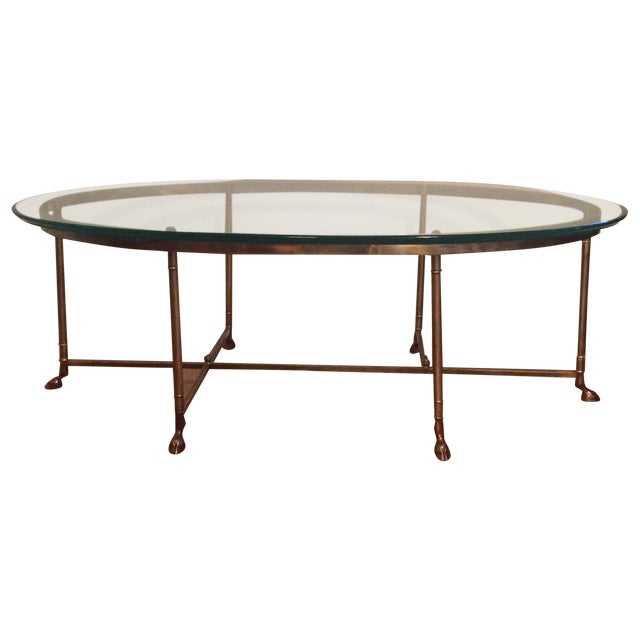 La Barge Gilt Glass Coffee Table - Image 1 of 6