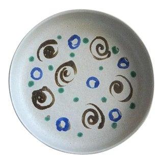 Martz Marshall Studios Vintage Shallow Ceramic Bowl