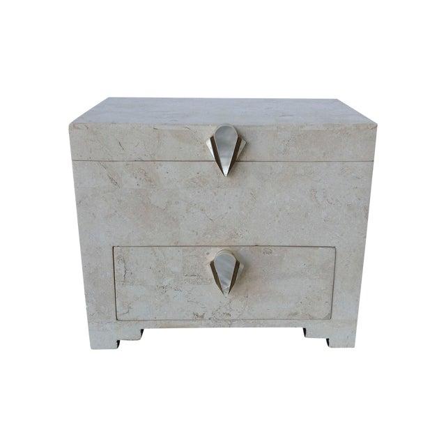Maitland-Smith Vintage 1970s Tessellated Stone Box - Image 1 of 11