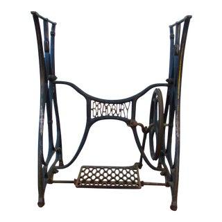 Art Deco Cast Iron Sewing Machine Base