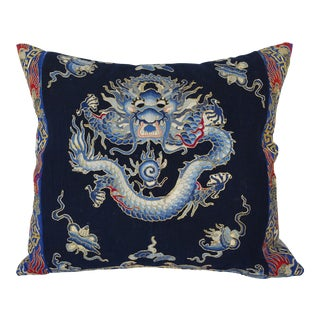 Micro Embroidered Dragon Pillow