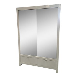 Ebbett Design & Associates White Mirrored Armoire
