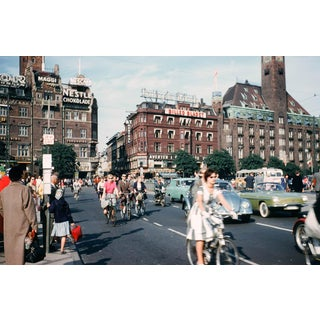Biking in Copenhagen 35mm Vintage Film Slide Photograph Circa 1960s