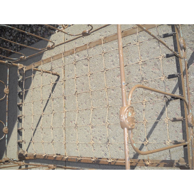 1800s Metal Crib - Image 5 of 8