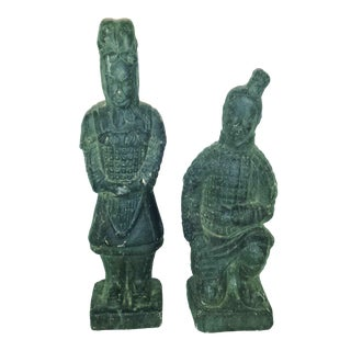 Vintage Chinese Terracotta Warriors - Pair