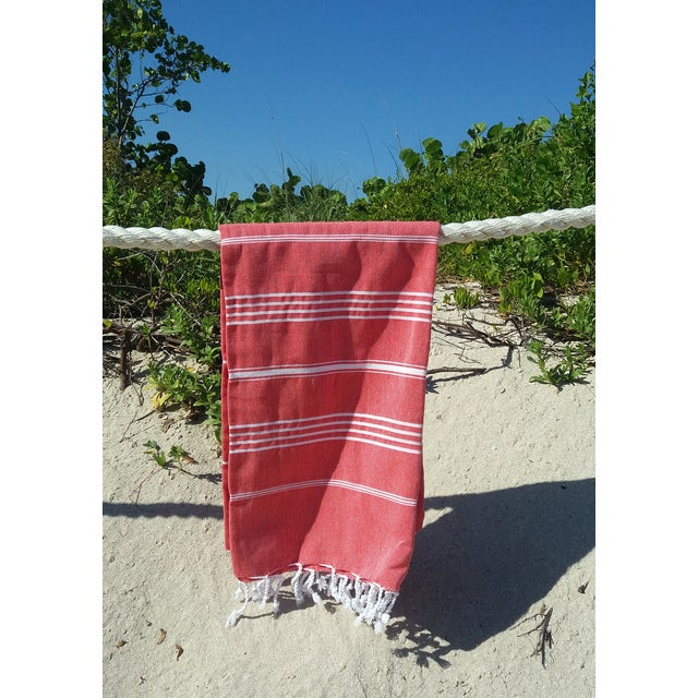 Strawberry Fisherman Striped Towalla Towel - Image 6 of 7