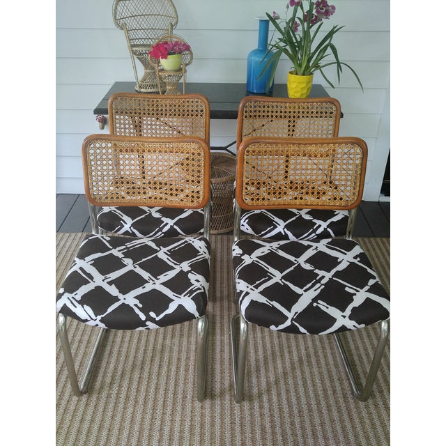 Woven Cesca Style Chairs - Set of 4 - Image 2 of 7
