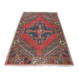 Turkish Oushak Handwoven Tribal Rug - 4′ × 6′3″