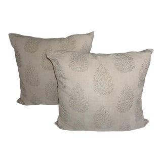 John Robshaw Kedara Linen Print Pillows - a Pair