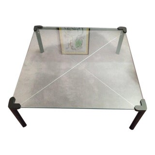 Contemporary Square Top Frosted Glass Coffee Table