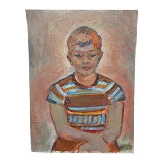 Boy in Striped Shirt Portrait by Anders Aldrin