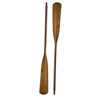 Vintage Wooden Oars - A Pair