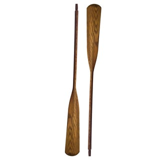 Vintage Wooden Oars - A Pair