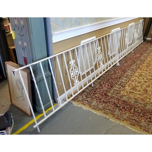 1950s Vintage White Wrought Iron Handrail Railing Gate ...