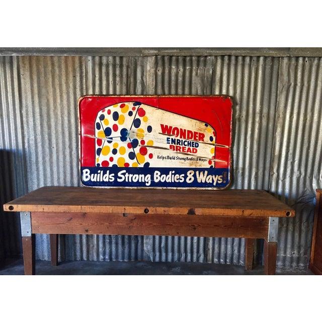 Vintage Original Wonder Bread Sign - Image 3 of 8