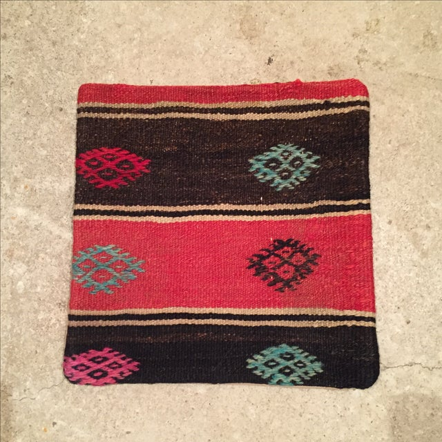 Vintage Striped Kilim Pillow - Image 2 of 5