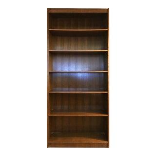 Mid-Century Modern Dark Wood Bookcase