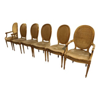 John Widdicomb French Provincial Dining Chairs - Set of 6