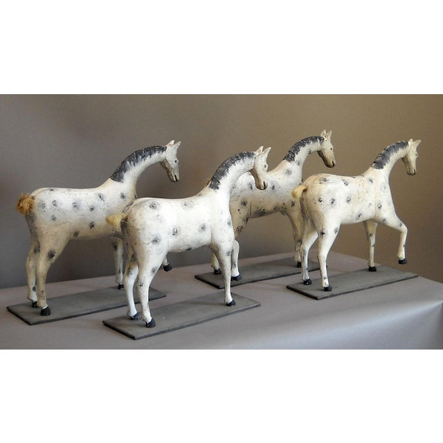 Image of Set of Four Toy Horses (#32-28)