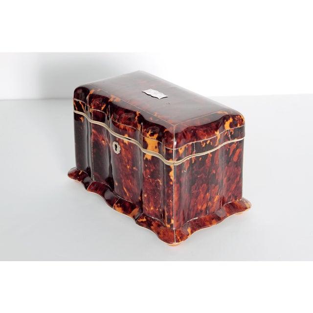 Tortoise Shell Tea Caddy - Image 3 of 11