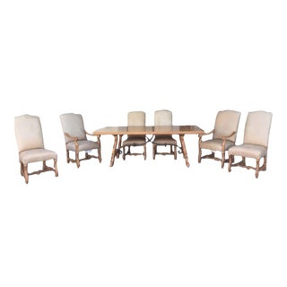Marble Accented Lexington Dining Set