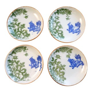 Antique Japanese Kozara Plates - Set of 4