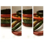 Image of Vintage Bakelite Bangle Bracelets - Set of 5