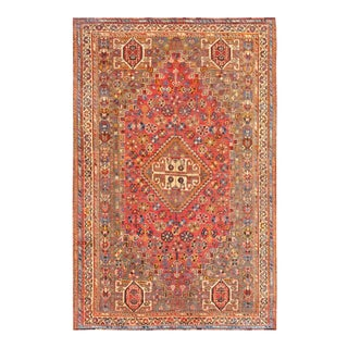 "Pasargad Vintage Qashgaie Wool Area Rug - 5' 5"" X 8' 3"""