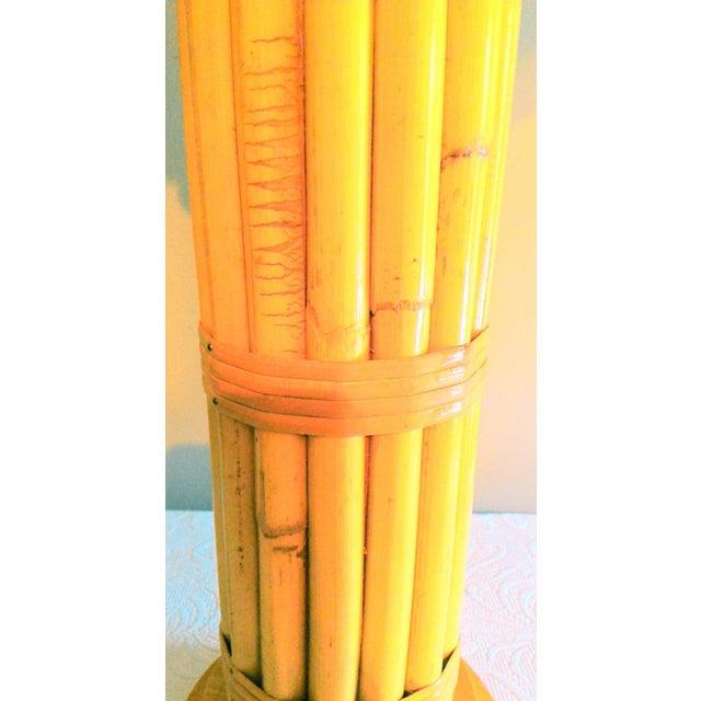 Vintage Regency Style Bamboo Lamp - Image 3 of 8