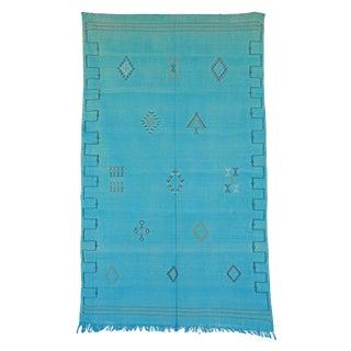 """Vintage Moroccan Cactus Silk Rug - 4'10"""" x 8'3"""""""