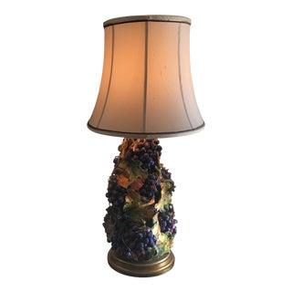 Antique Italian Grapes Lamp