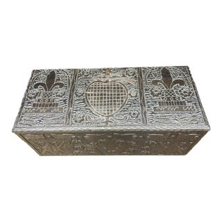 Masonic Iconography Hand Carved Chest