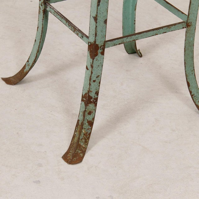 Vintage Industrial Rustic Green Bar Stool - Image 6 of 7